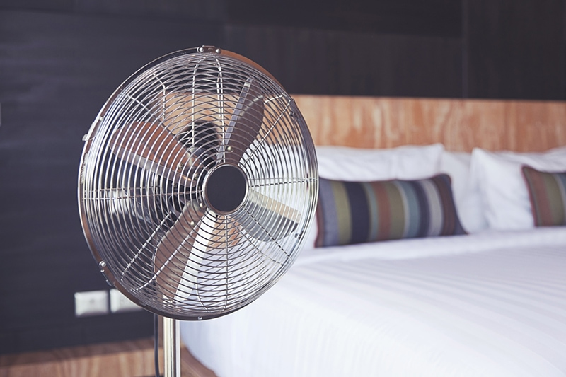 electric fan in the room